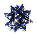 Ornamento decorativo dai nastri - azzurro Immagini Stock