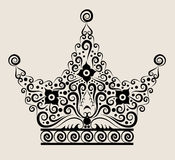 Ornamento decorativo de la corona Fotos de archivo libres de regalías