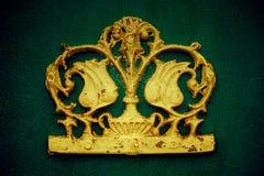 Ornamento decorativo de la flor de Grunge Foto de archivo libre de regalías