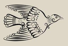 Ornamento decorativo de la paloma Fotos de archivo libres de regalías