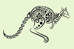 Ornamento decorativo del canguro Foto de archivo