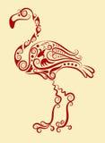 Ornamento decorativo del flamenco Foto de archivo