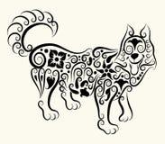 Ornamento decorativo del lobo Fotografía de archivo libre de regalías