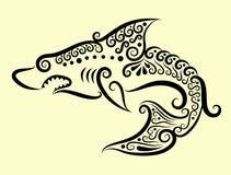 Ornamento decorativo del tiburón Imagen de archivo