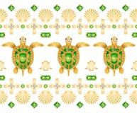 Ornamento decorativo delle tartarughe illustrazione di stock