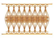 Ornamento decorativo forjado de la puerta aislado en el fondo blanco Imagen de archivo