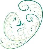 Ornamento decorativo verde Imagen de archivo libre de regalías