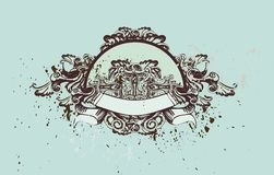 Ornamento decorativos do vintage ilustração royalty free