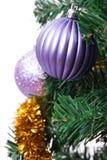 Ornamento del Año Nuevo en el árbol de navidad Foto de archivo