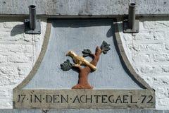 Ornamento del aguilón con el texto imágenes de archivo libres de regalías