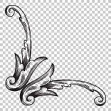 Ornamento del aislante en estilo barroco Foto de archivo libre de regalías