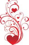 Ornamento del biglietto di S. Valentino Fotografia Stock Libera da Diritti