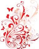 Ornamento del biglietto di S. Valentino Fotografia Stock
