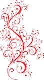 Ornamento del biglietto di S. Valentino con le cuore-figure Fotografia Stock Libera da Diritti