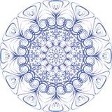 Ornamento del blu del piatto Immagini Stock Libere da Diritti