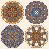 Ornamento del círculo, colección redonda ornamental del cordón Fotos de archivo