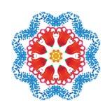 Ornamento del círculo de la acuarela Foto de archivo libre de regalías