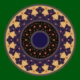 Ornamento del círculo de la flor de Ahiar Fotos de archivo