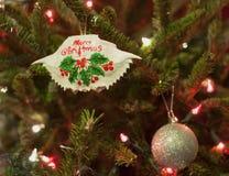 Ornamento del cangrejo de Maryland de la Feliz Navidad Fotografía de archivo
