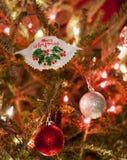 Ornamento del cangrejo de Maryland de la Feliz Navidad Imagen de archivo