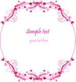 Ornamento del cerchio di giorno del biglietto di S. Valentino fotografia stock