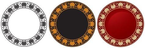 Ornamento del cerchio del greco antico Fotografia Stock