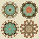 Ornamento del cerchio, raccolta rotonda ornamentale del pizzo Fotografia Stock