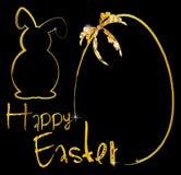 Ornamento del coniglietto del fondo di Pasqua Fotografie Stock