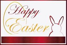 Ornamento del coniglietto del fondo di Pasqua Fotografie Stock Libere da Diritti