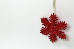 Ornamento del copo de nieve de la Navidad Fotos de archivo libres de regalías