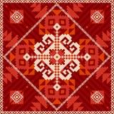 Ornamento del copo de nieve en estilo étnico stock de ilustración