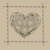Ornamento del corazón de la tarjeta del día de San Valentín Imagen de archivo