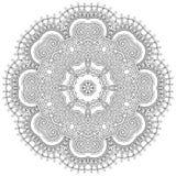 Ornamento del cordón del círculo, geométrico ornamental redondo Foto de archivo