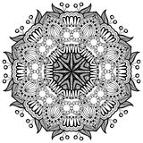 Ornamento del cordón del círculo, geométrico ornamental redondo Fotos de archivo libres de regalías