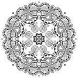 Ornamento del cordón del círculo, geométrico ornamental redondo Foto de archivo libre de regalías