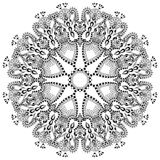 Ornamento del cordón del círculo, geométrico ornamental redondo Imagen de archivo libre de regalías