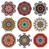 Ornamento del cordón del círculo, geométrico ornamental redondo Imagenes de archivo