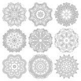 Ornamento del cordón del círculo, geométrico ornamental redondo Imagen de archivo