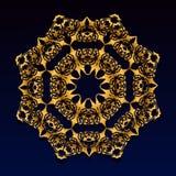 Ornamento del cordón del oro del vintage Fotografía de archivo libre de regalías