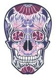 Ornamento del cráneo stock de ilustración