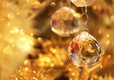 Ornamento del cristal de la Navidad Imágenes de archivo libres de regalías