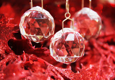 Ornamento del cristal de la Navidad Fotos de archivo
