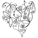 Ornamento del cuore  Fotografia Stock Libera da Diritti