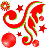 Ornamento del dibujo para la Navidad Fotos de archivo libres de regalías