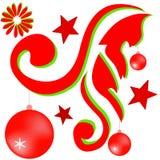 Ornamento del disegno per il Natale Fotografie Stock Libere da Diritti