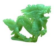 Ornamento del dragón del jade Fotografía de archivo
