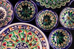 Ornamento del este brillante colorido de las placas del estilo imagen de archivo