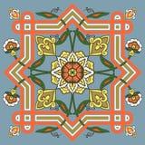 Ornamento del extracto del estilo de Uzbeck Fotos de archivo