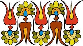 Ornamento del fiore Fotografia Stock
