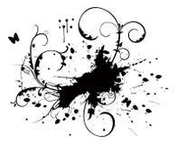 ornamento del fiore del grunge Fotografie Stock